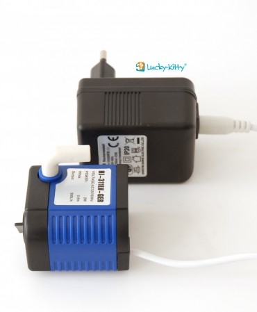 Lucky-Kitty low voltage pump w. PSU (EU-Plug)